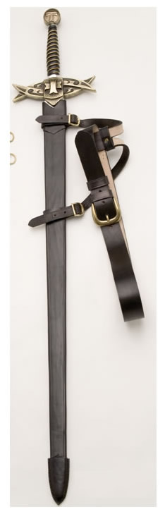 Templar´s sword with Scabbard
